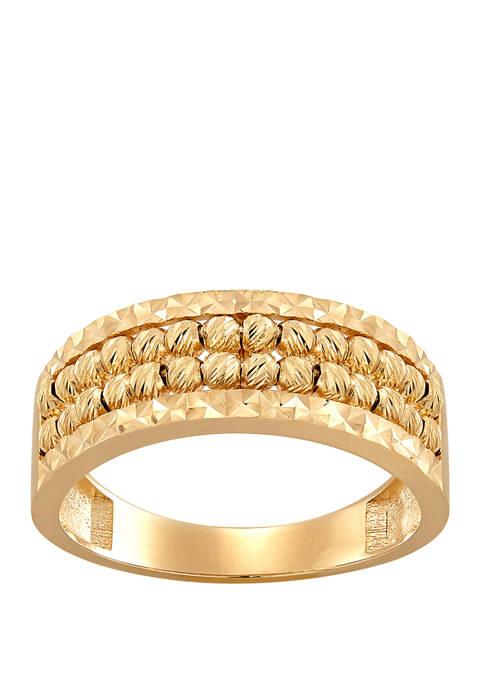 Belk & Co. Double Beaded Ring in 10K