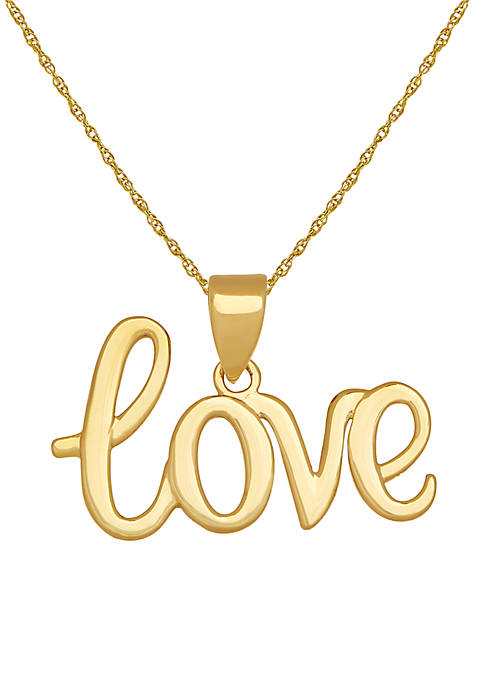 Belk & Co. 10K Yellow Gold Love Pendant