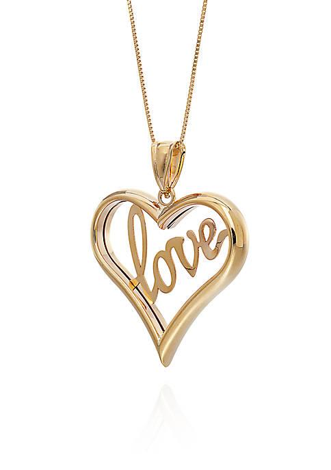 Heart Pendant in 10K Yellow Gold