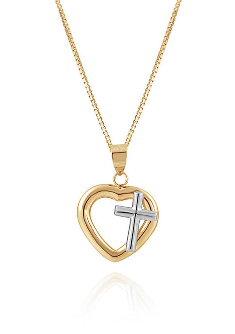 Belk & Co. Heart Pendant Necklace in 10K