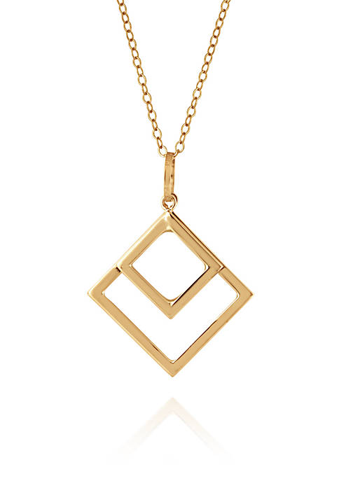Belk & Co. Diamond Shape Pendant Necklace in