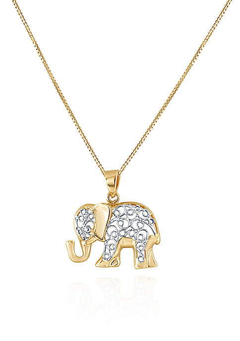 Belk & Co. 10K Yellow Gold Elephant Pendant