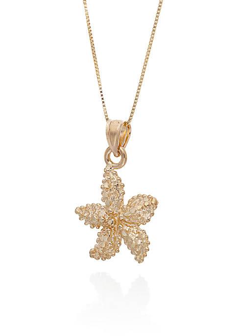 Starfish Pendant in 10K Yellow Gold