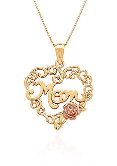Belk & Co. 10k Yellow Gold Mom Rose Pendant