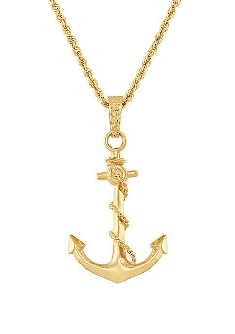 Belk & Co. Anchor Pendant Necklace in 10K