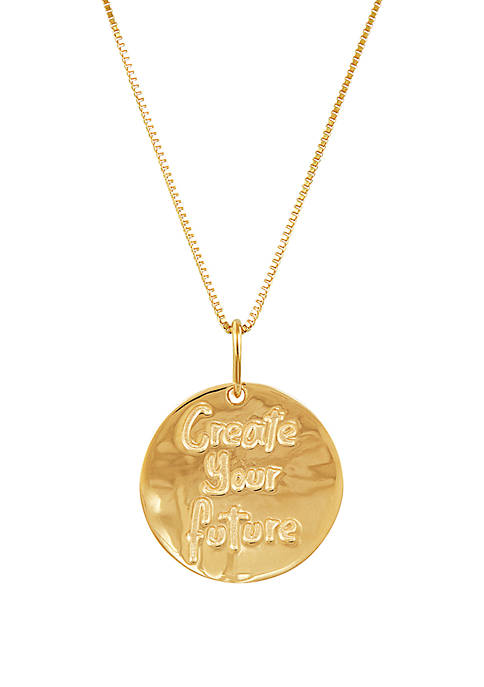Belk & Co. Future Disc Chain Necklace in
