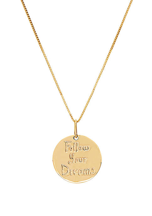Belk & Co. Dream Disc Chain Necklace in
