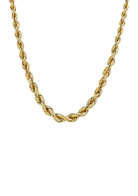 Belk & Co. 10K Yellow Gold Graduated Rope