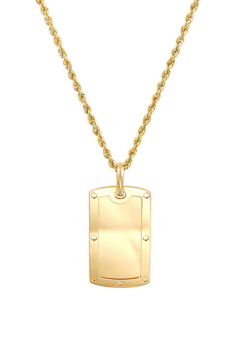 Belk & Co. Dogtag Chain Necklace in 10k
