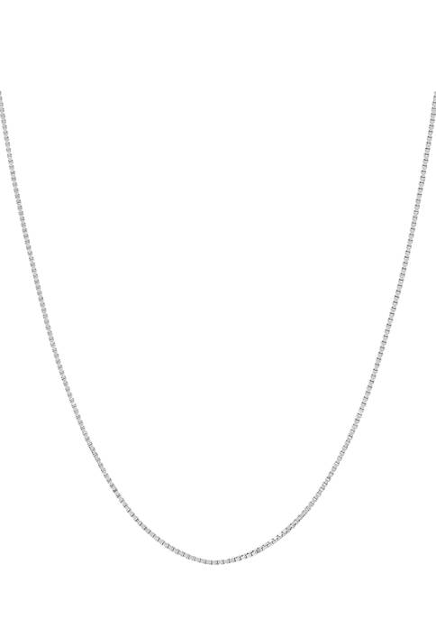 14K Gold Solid Box Chain Necklace
