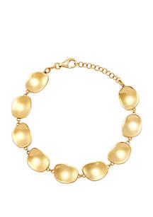 Belk & Co. Gold Over Silver Oval Link Bracelet