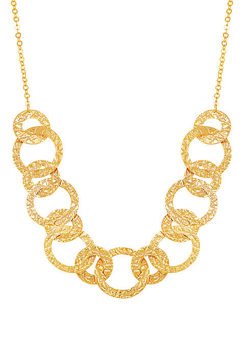 Gold Plated Over Silver Circle Necklace