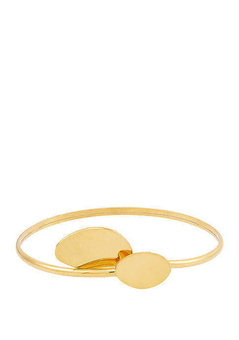 Gold Over Silver Bypass Bracelet
