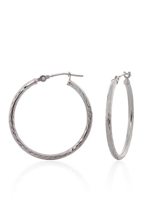 Belk & Co. Diamond Cut Hoop Earrings in
