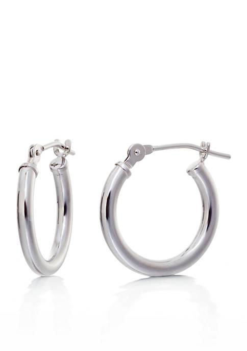Belk & Co. Hoop Earrings in 14K White