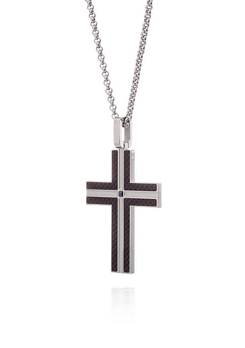 Belk & Co. Cubic Zirconium Cross Pendant