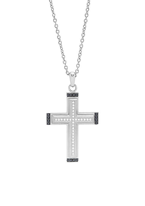 Belk & Co. Mens Cross Pendant with Black