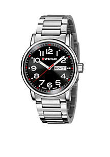 Wenger® Men's Attitude Large Stainless Steel Swiss Watch