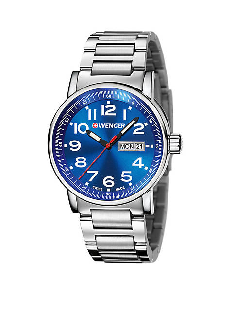 Mens Attitude Stainless Steel Swiss Watch