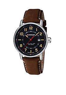 Wenger® Men's Attitude Outdoor Leather Strap Swiss Watch