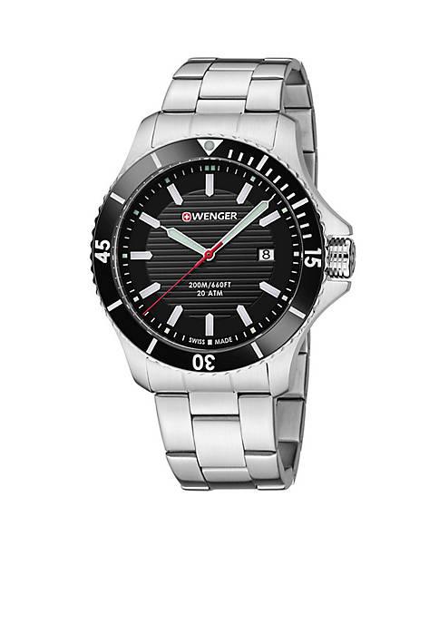 Mens Seaforce Stainless Steel Swiss Watch
