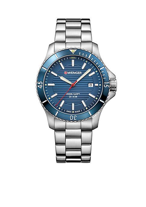 Mens Stainless Steel Seaforce Bracelet Watch