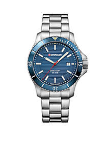 Wenger® Men's Stainless Steel Seaforce Bracelet Watch