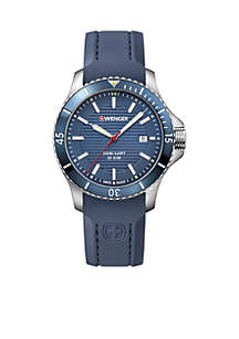 Stainless Steel Seaforce Silicone Strap Watch