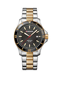 Two-Tone Stainless Steel Seaforce Bracelet Watch