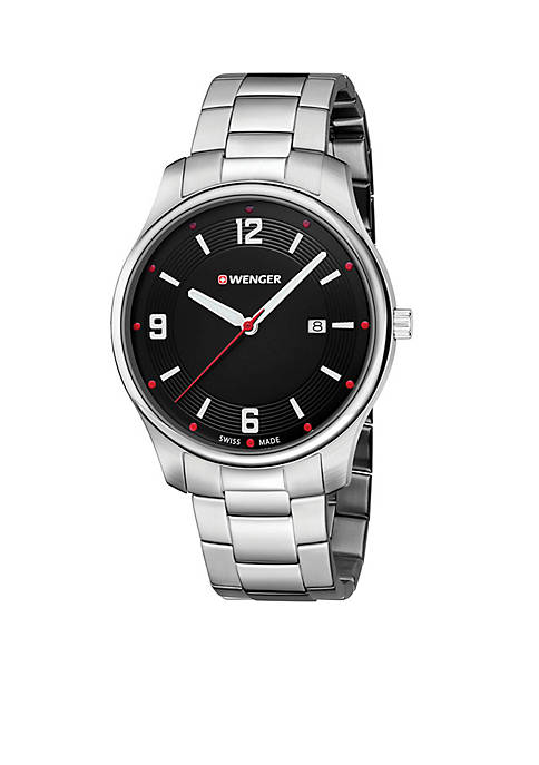 Wenger® Sterling Silver Swiss City Active Black Chain