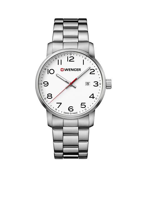Mens Stainless Steel Wenger Avenue Bracelet Watch