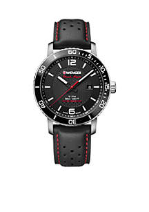 Wenger® Stainless Steel Roadster Black Night Watch