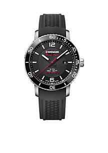 Wenger® Stainless Steel Roadster Black Night Watch
