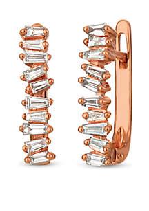 Le Vian® Baguette Frenzy™ 3/8 ct. t.w. Vanilla Diamond® Earrings set in 14k Strawberry Gold®