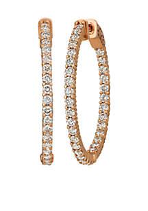 Nude Palette® 2 ct. t.w. Nude Diamond® Hoop Earrings in 14k Strawberry Gold®