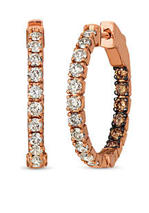 Nude Palette® 2 ct. t.w. Nude Diamond® Hoop Earrings in 14k Strawberry Gold®