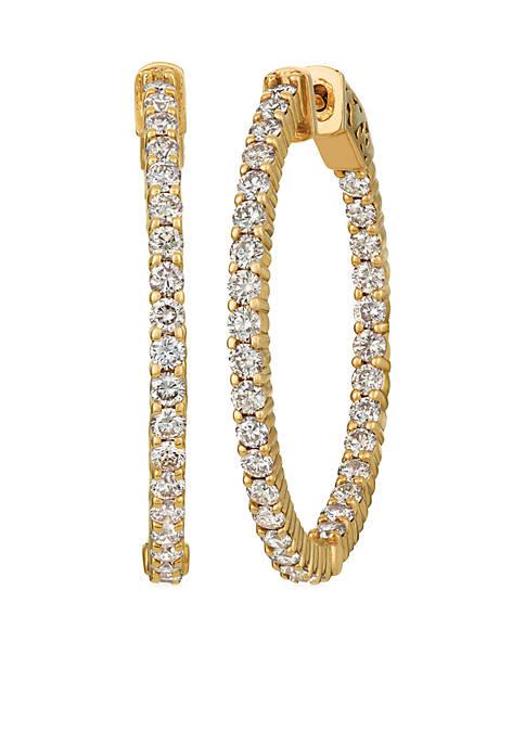 Nude Palette® 1 ct. t.w. Nude Diamonds® Hoop Earrings in 14k Honey Gold®