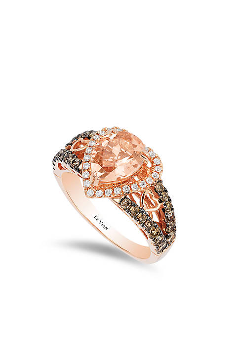 Le Vian® Peach Morganite and Chocolate & Vanilla