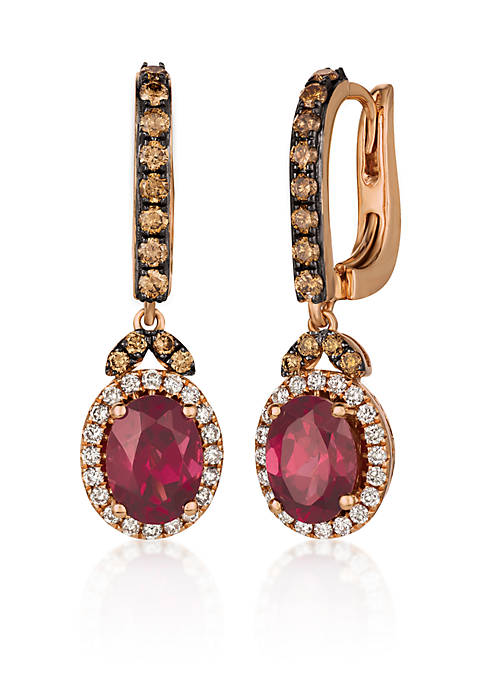 Le Vian® Chocolatier® Raspberry Rhodolite® Drop Earrings