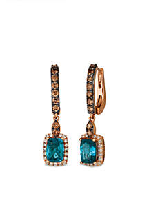 Nude Diamonds and Chocolate Diamonds® Earrings in 14k Strawberry Gold®