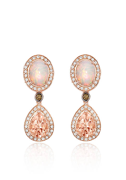 Le Vian® Peach Morganite with Neopolitan Opal, Vanilla