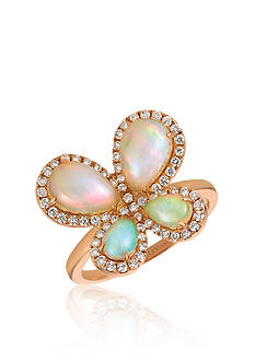 Le Vian® Neapolitan Opal™ with Vanilla Diamonds® Ring in 14k Strawberry Gold®