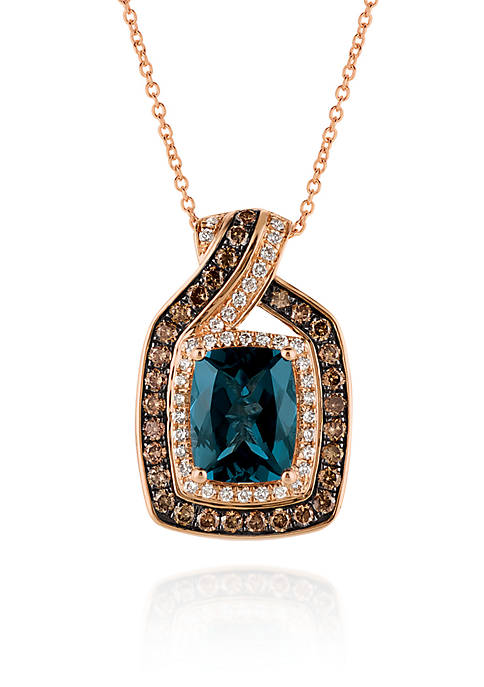 Le Vian® Deep Sea Blue Topaz™ with Vanilla