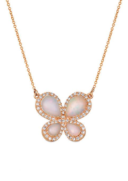 Le Vian® Neopolitan Opal and Vanilla Diamonds Butterfly