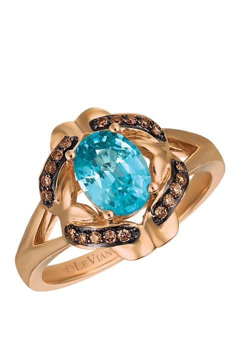 Le Vian® 1/8 ct. t.w. Blue Zircon Diamond