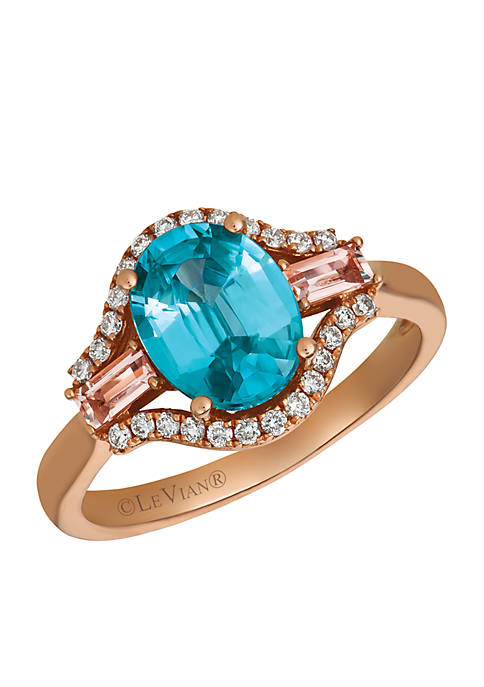 Le Vian® Blueberry Zircon, Peach Morganite, and Vanilla