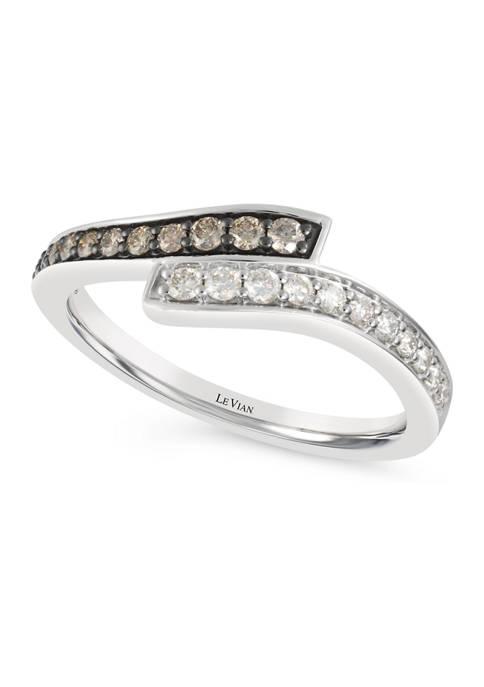 Chocolatier® Ring featuring 1/6 ct. t.w. Chocolate Diamonds® and 1/6 ct. t.w. Vanilla Diamonds® in 14K Vanilla Gold®