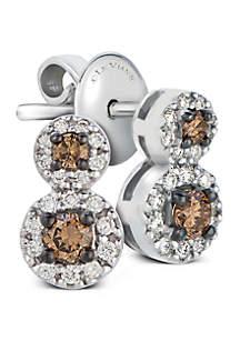 1/4 ct. t.w. Chocolate Diamonds® and 1/8 ct. t.w. Vanilla Diamonds® Earrings in 14k Vanilla Gold®