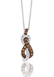 Le Vian Chocolatier Chocolate Diamonds and Vanilla Diamonds Pendant set in 14K Vanilla Gold