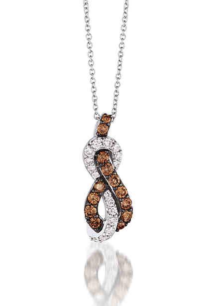 Le vian necklaces chocolate diamond neclaces belk le vian le vian chocolatier chocolate diamonds and vanilla diamonds pendant set in 14k vanilla aloadofball Gallery
